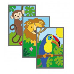 cartes a gratter 10x15 cm la jungle 3 pieces