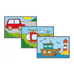 cartes a gratter 10x15 cm les transports 3 pieces