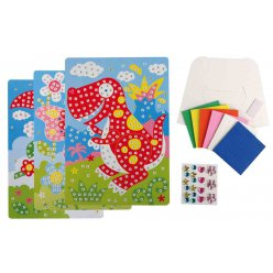 mosaique numerotees mousse kits animaux x 3 pieces