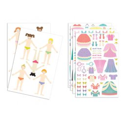 stickers fashion 10 silhouettes filles 200 pieces