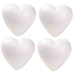 coeur en polystyrene 11 cm lot de 4 pieces