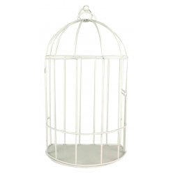 cage a oiseau decorative en metal 30 x 18 x 12 cm