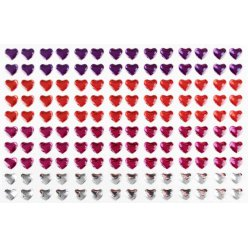 stickers strass coeurs 06 cm 140 pieces
