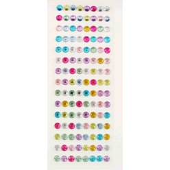 stickers strass ronds cristal 1 cm 120 pieces
