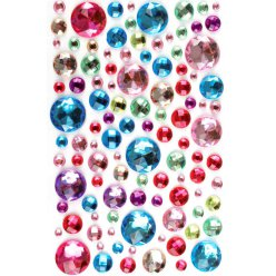 stickers strass rond multicolore 05 a 2 cm 106 pieces