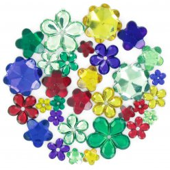 strass fleurs multicolores 08 a 22 cm 204 pieces