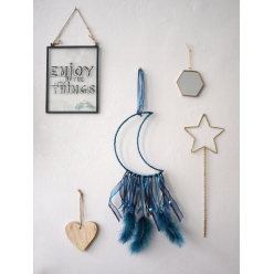 kit attrape reve dreamcatcher lune 155 x 55 cm