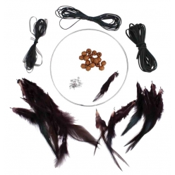 kit attrape reve dreamcatcher rond 15 cm