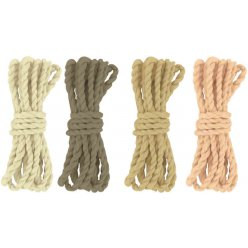 cordelette en coton naturel brun 120 m 4 pieces