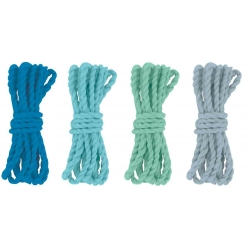 cordelette en coton naturel bleu 120 m 4 pieces