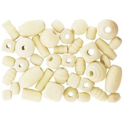 perles en bois assorties naturel 05 a 2 cm 110 pieces