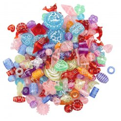 perles acryliques polies assorties 05 a 18 cm 97 pieces