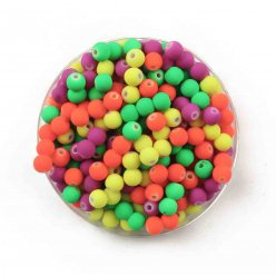 perles gomme fluo rondes 06 cm 200 pieces