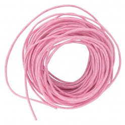 cordon en coton cire 1 mm rose 5 m