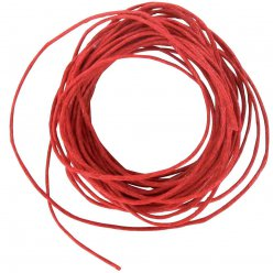 cordon en coton cire 1 mm rouge 5 m