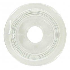 fil elastique gaine blanc 1 mm x 5 m