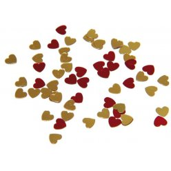 paillettes coeur rouge or 5 mm 20g