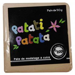 pate polymere a modeler patati patata taupe 50 g