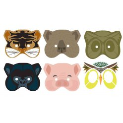 masques a customiser avec gommettes x5 pieces