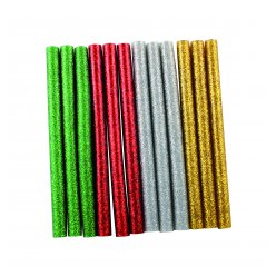 batons de colle pailletee pour pistolet a colle couleurs assorties x12 pcs