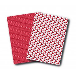 washi paper a4 2 feuilles rouge blanc
