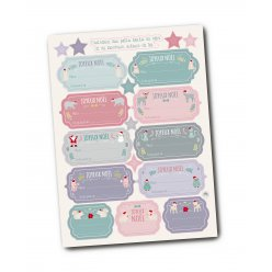 stickers tags messages noel 1 a 75cm x 36 pcs
