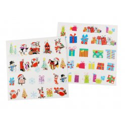 stickers transparents noel couleurs assorties 1 a 45cm x 48 pcs