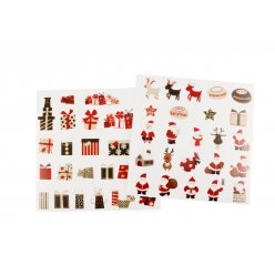 stickers transparents noel couleurs assorties 2 a 45cm x 48 pcs