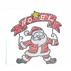 sticker strass pere noel couleurs assorties 14 x 125cm