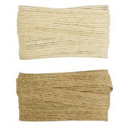 ruban jute beige naturel 1 x 3 m x 2 pcs