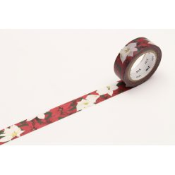 masking tape mt 15 mm noel rose de noel  poinsettia