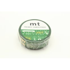 masking tape mt 15 mm noel messages de noel fond vert  calligraphy