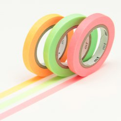 masking tape mt 6 mm slim set de 3  unis i fluo