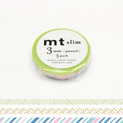 masking tape mt 3 mm slim set de 3 pastel