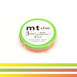 masking tape mt 3 mm slim set de 3 degrade neon  neon gradation
