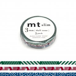masking tape mt 3 mm slim set de 3 lignes et pois  dull tone