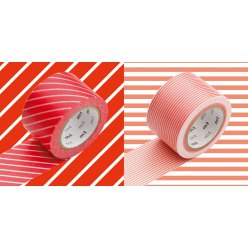 masking tape mt wide set de 2 k raye rouge x stripe red