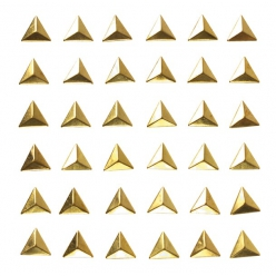 stickers stud triangles dores 1cm x 36 pcs