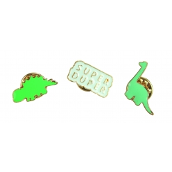 pins emaille dinosaures x 3 pcs
