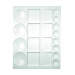 palette plastique rectangulaire 20 cases 33 x 25 cm