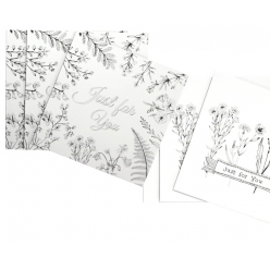 cartes a colorier et enveloppe just for you 135 x 135 cm x 6 pcs