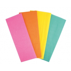 crepon couleurs vives feuille 100 x 50 cm x 4 pcs