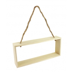 etagere rectangle bois corde 28 x 12 x 5 cm