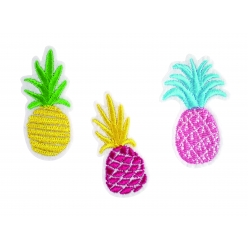 Patch brodé ananas 6 cm x 3 pcs