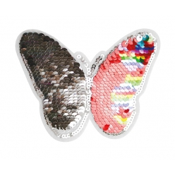 patch sequin double face papillon couleurs assorties 10 x 10 cm