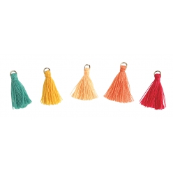 mini pompon couleurs peps 15 cm x 20 pcs