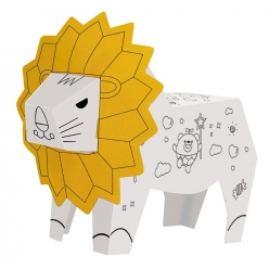 lion carton 3d a monter cri de l animal et lumieres