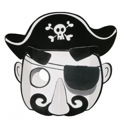 masque 3d carte forte capitaine pirate a colorier et a monter