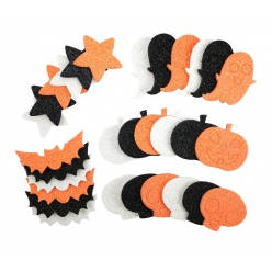 sticker halloween mousse pailletee 3 a 5 cm x 30 pcs