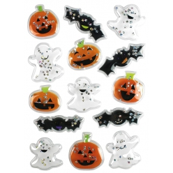 sticker 3d halloween paillete 26 a 48cm x 14 pcs